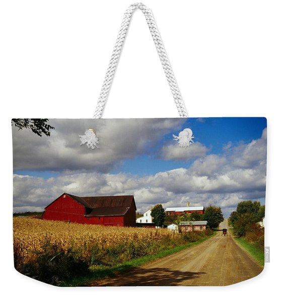 Amish Farm Buildings And Corn Field Weekender Tote Bag