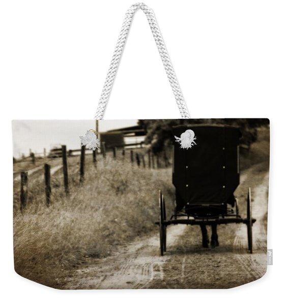 Amish Horse And Buggy Weekender Tote Bag