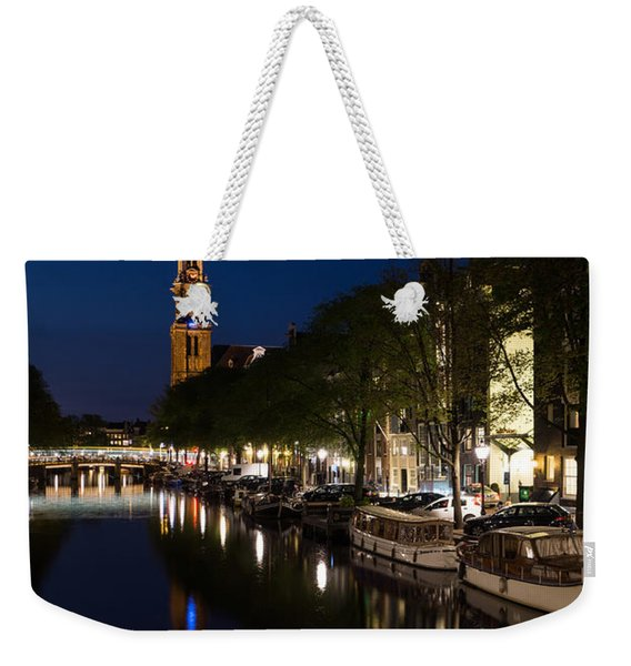 Amsterdam Blue Hour Weekender Tote Bag