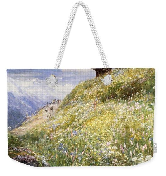 An Alpine Meadow Switzerland Weekender Tote Bag