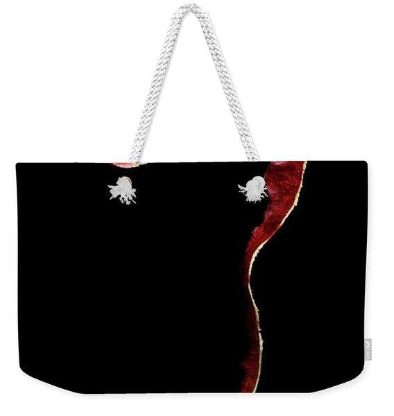 An Apple Peel Weekender Tote Bag
