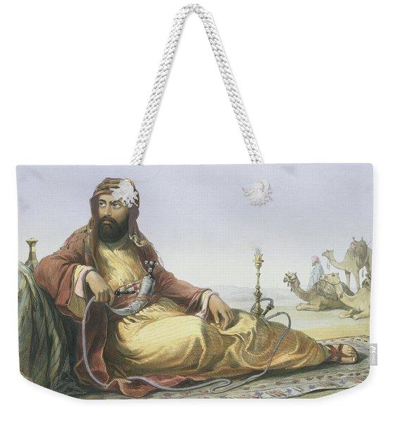 An Arab Resting In The Desert, Title Weekender Tote Bag