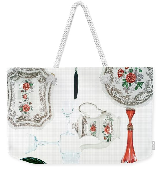 An Assortment Of Crockery Weekender Tote Bag