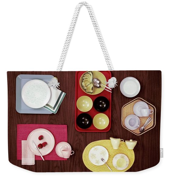 An Assortment Of Dinnerware Weekender Tote Bag