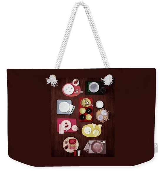 An Assortment Of Dinnerware Weekender Tote Bag