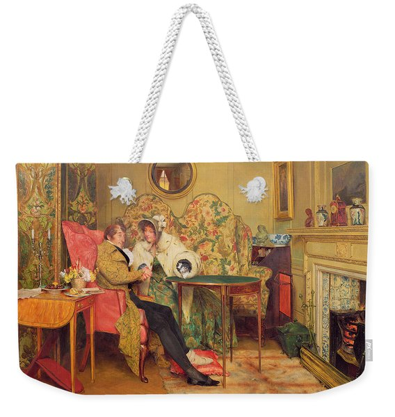 An Attentive Visitor Weekender Tote Bag