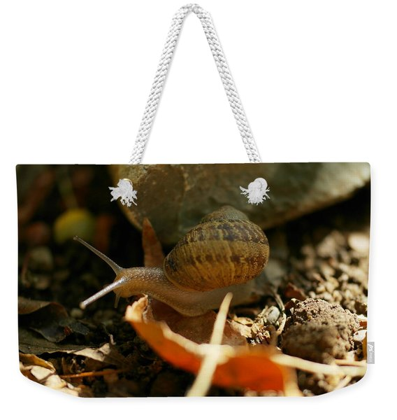 An Awesomely Slow Snail Weekender Tote Bag