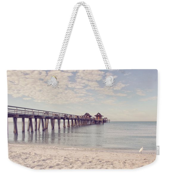 An Early Morning - Naples Pier Weekender Tote Bag