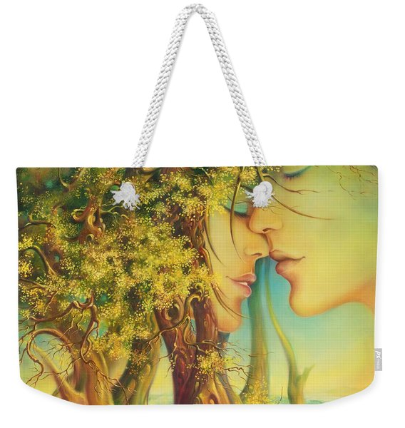 An Encounter At The Edge Of The Forest Weekender Tote Bag