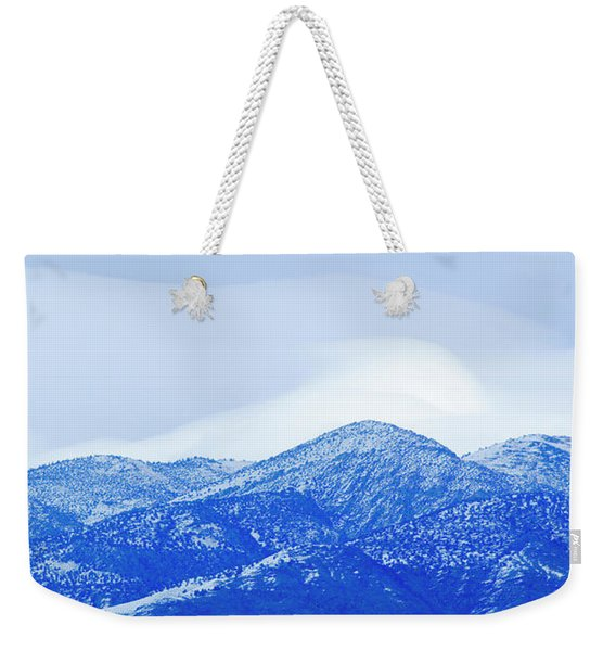 An Evening View Of A Mountainside Weekender Tote Bag
