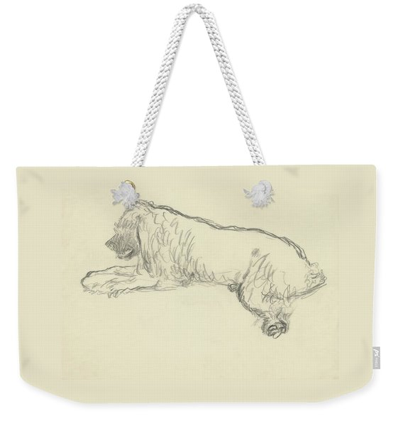 An Illustration Of A Dog Weekender Tote Bag