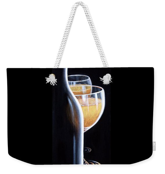 Weekender Tote Bag featuring the painting An Indecent Proposal by Sandi Whetzel