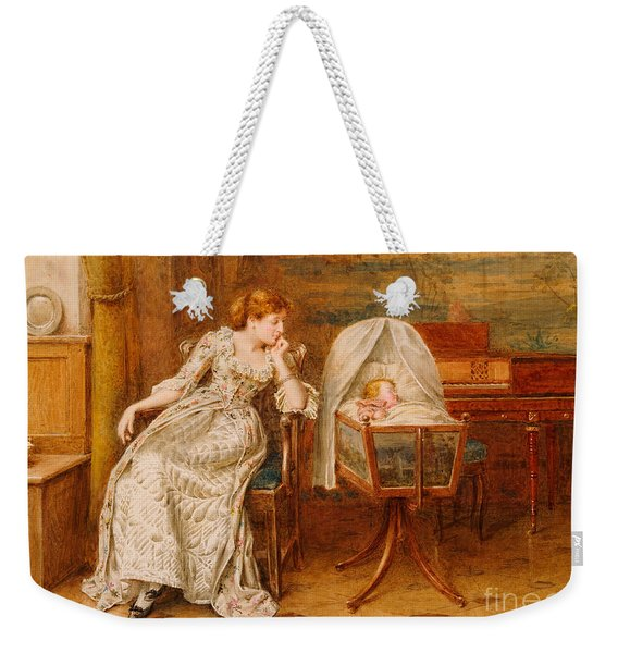 An Interior With A Mother And Child Weekender Tote Bag