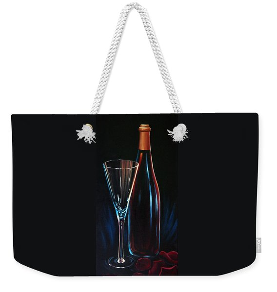 Weekender Tote Bag featuring the painting An Invitation To Romance by Sandi Whetzel