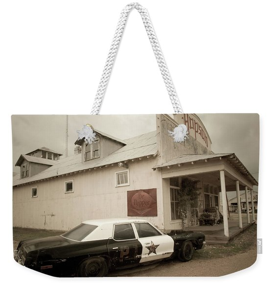 An Old Police Cruiser And A Plantation Weekender Tote Bag