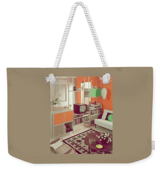 An Orange Living Room Weekender Tote Bag