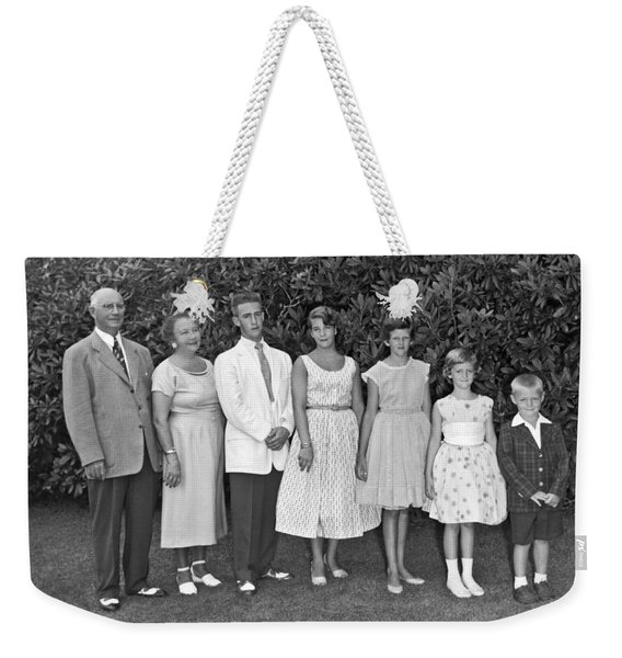 An Outdoors Family Portrait Weekender Tote Bag