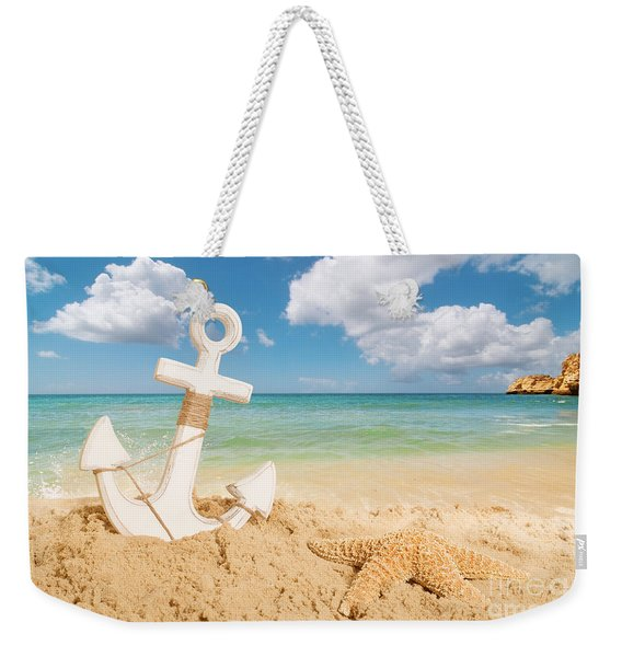 Anchor On The Beach Weekender Tote Bag