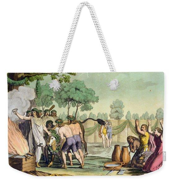 Ancient Celts Or Gauls Sacrificing Weekender Tote Bag