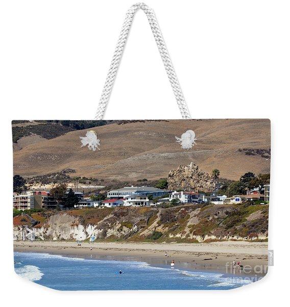 Ancient Sea Stack At Pismo Beach Weekender Tote Bag