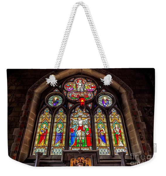 Ancient Stained Glass Weekender Tote Bag
