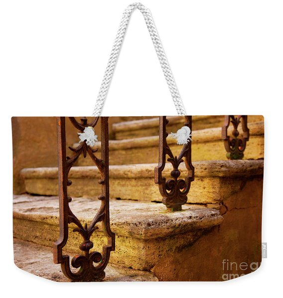 Weekender Tote Bag featuring the photograph Ancient Steps by Brian Jannsen