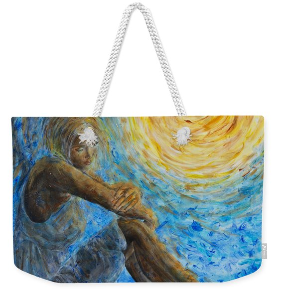 Angel Moon II Weekender Tote Bag