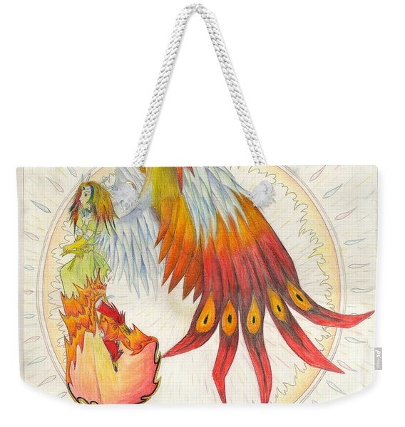 Angel Phoenix Weekender Tote Bag