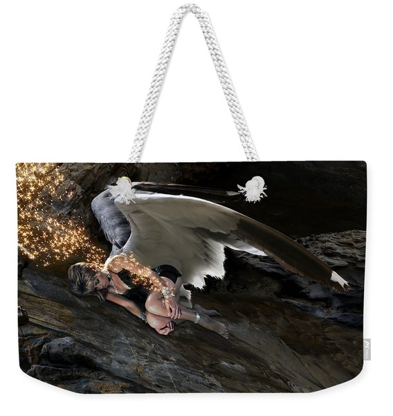 Angels- Call On The Name Of Jesus And Stand Still Weekender Tote Bag
