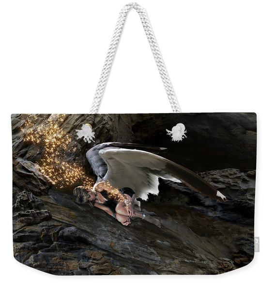 Angels- He Will Bring Peace To Your Heart Weekender Tote Bag