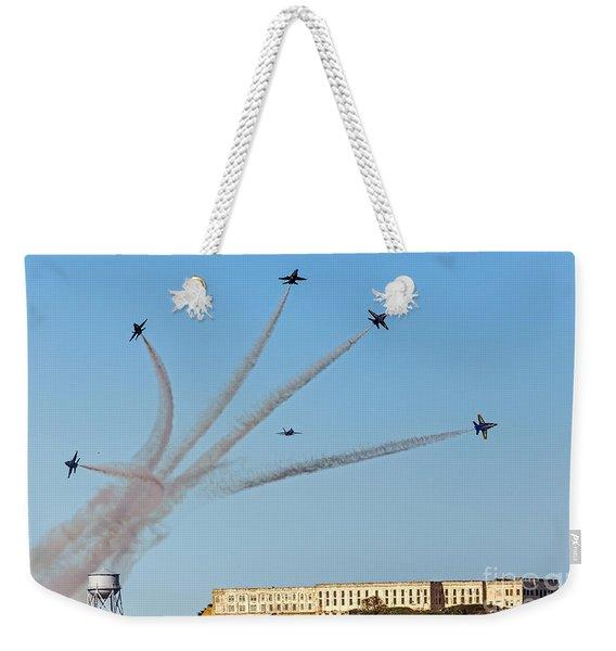 Angels Over Alcatraz Weekender Tote Bag