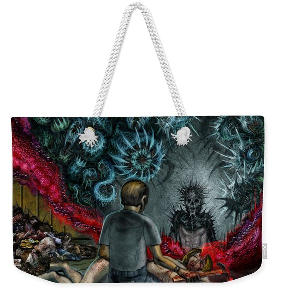 Anger Only Feeds The Monster Inside You Weekender Tote Bag