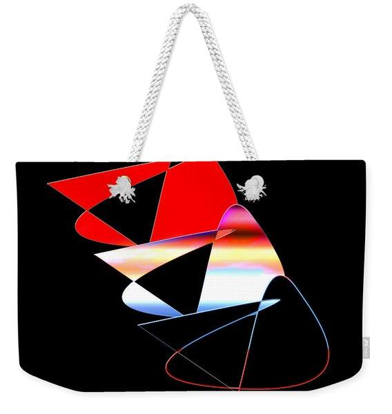 Weekender Tote Bag featuring the digital art Angry Birds by Gunter Nezhoda