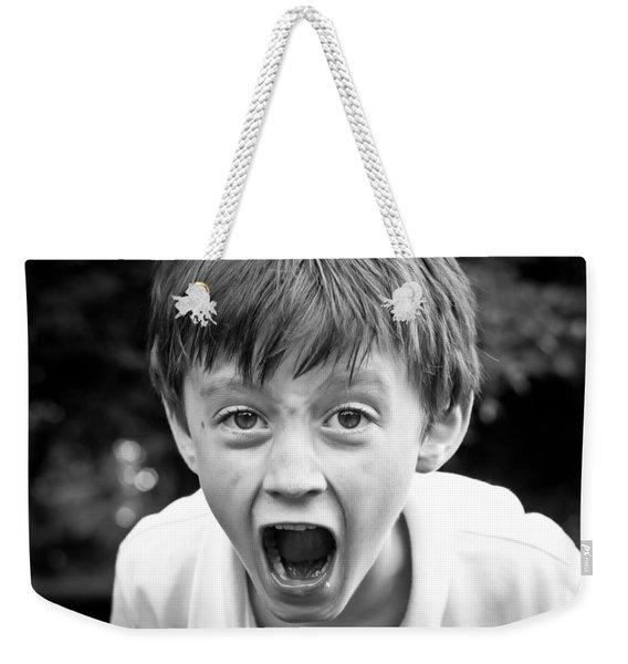 Angry Child Weekender Tote Bag