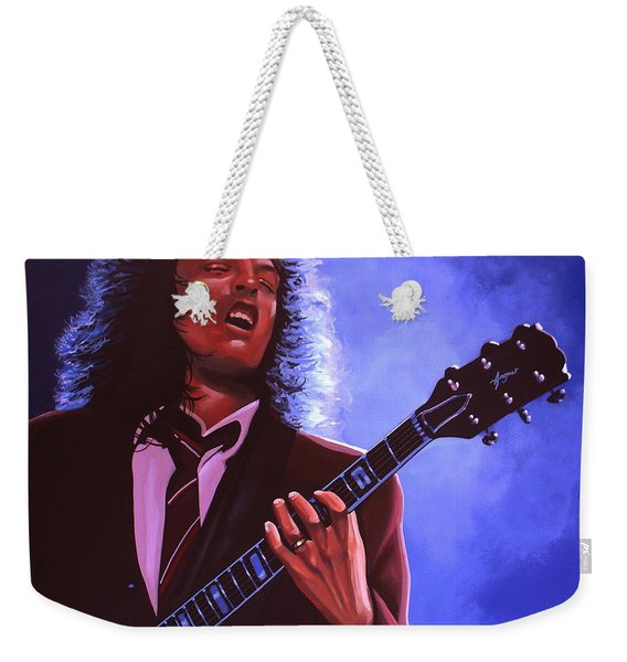 Angus Young Of Ac / Dc Weekender Tote Bag