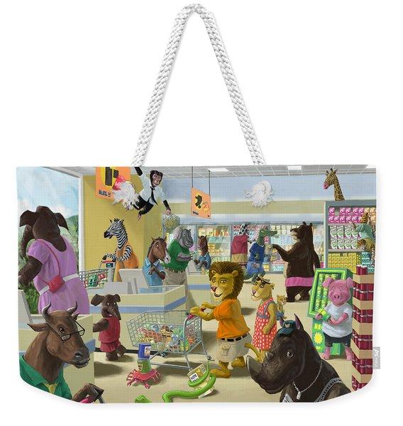 Animal Supermarket Weekender Tote Bag