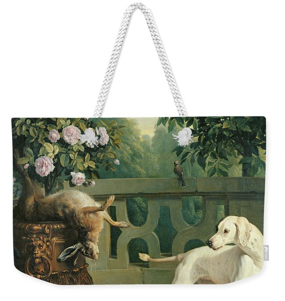 Animals, Flowers And Fruits Oil On Canvas Weekender Tote Bag