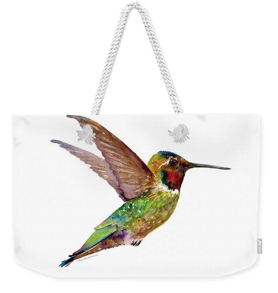 Anna Hummingbird Weekender Tote Bag