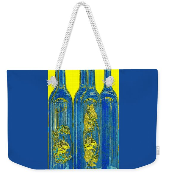 Antibes Blue Bottles Weekender Tote Bag
