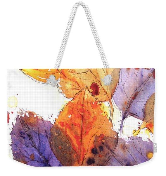 Anticipating Autumn Weekender Tote Bag