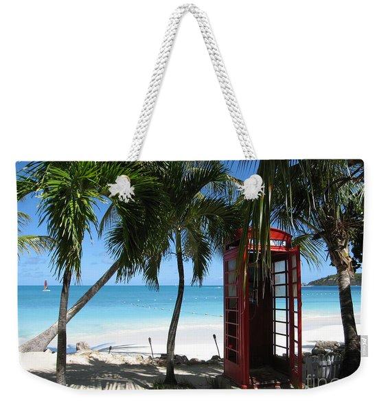 Antigua - Phone Booth Weekender Tote Bag