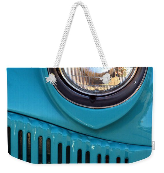 Antique Automobile Headlamp Weekender Tote Bag