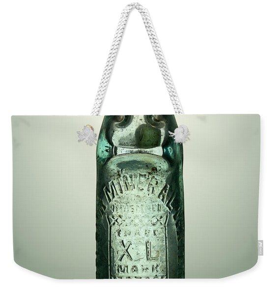 Antique Mineral Glass Bottle Weekender Tote Bag