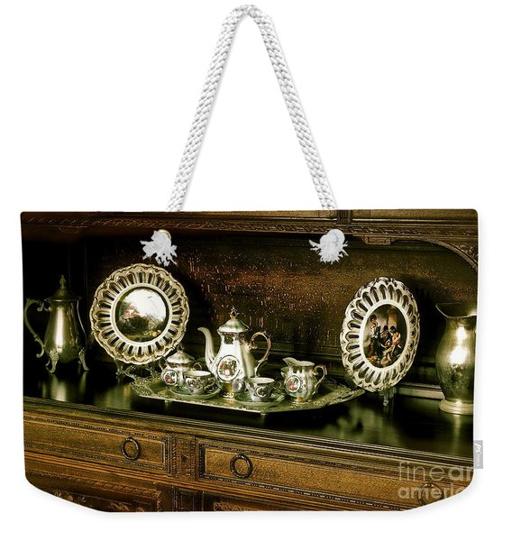 Antique Tea Set Weekender Tote Bag