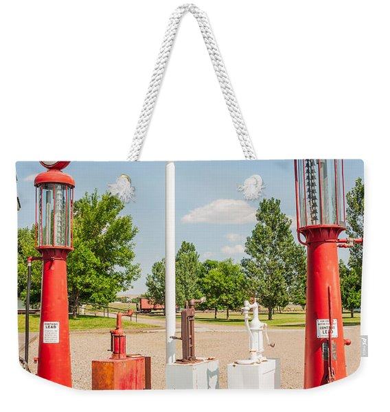 Antique Texaco Pumps Weekender Tote Bag