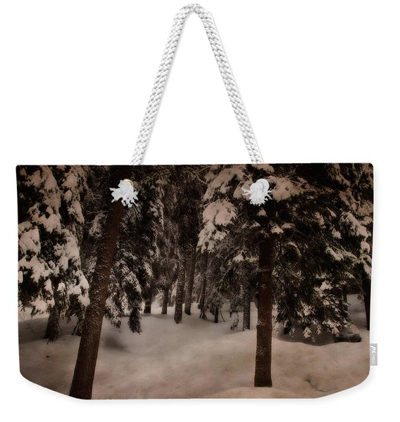 Antique Woodscape Weekender Tote Bag
