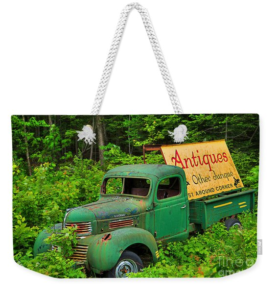 Antiques Just Around The Corner Weekender Tote Bag