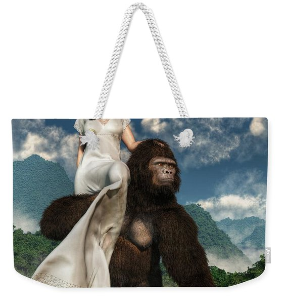Ape And Girl Weekender Tote Bag