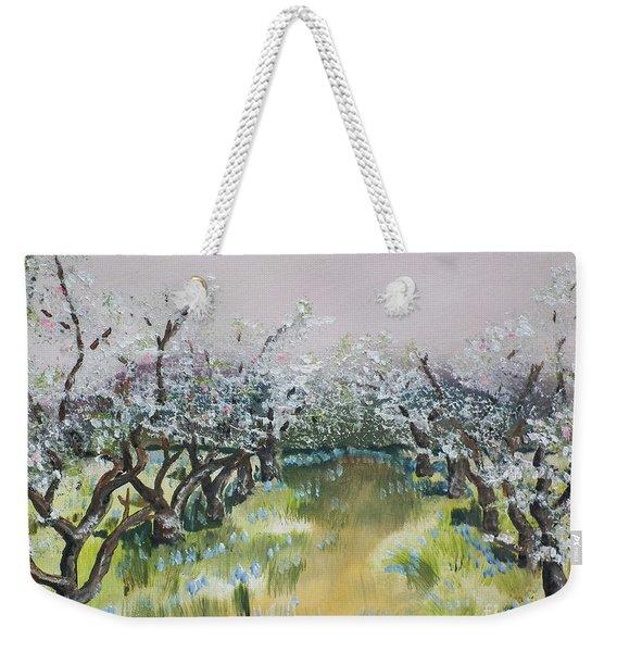 Apple Blossoms In Ellijay -apple Trees - Blooming Weekender Tote Bag