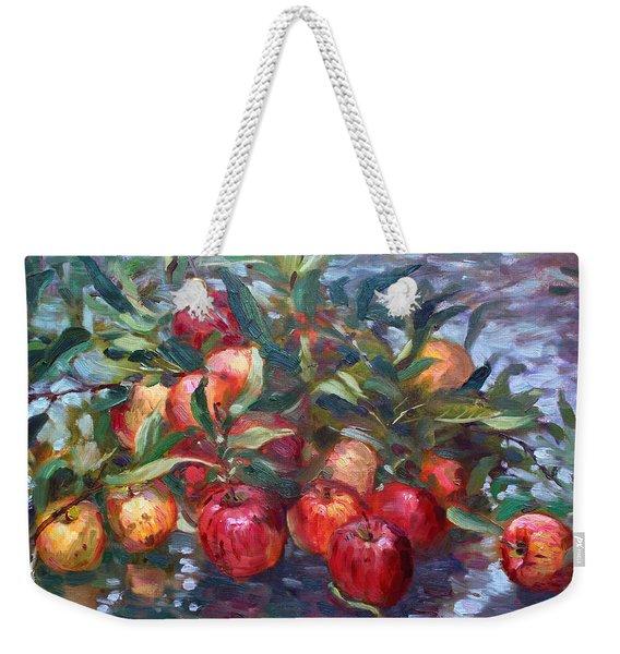 Apple Harvest At Violas Garden Weekender Tote Bag
